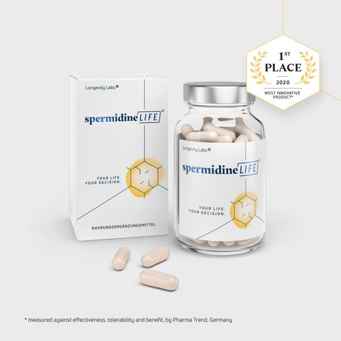 """The Most Innovative Product"" awarded to novel dietary supplement spermidineLIFE"