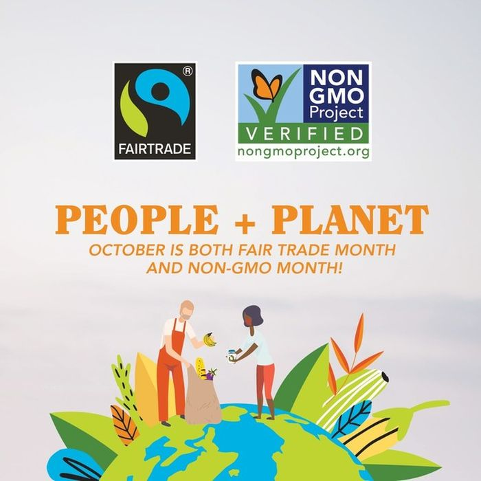Hundreds of Retailers Support Fairtrade and Non-GMO Month this October