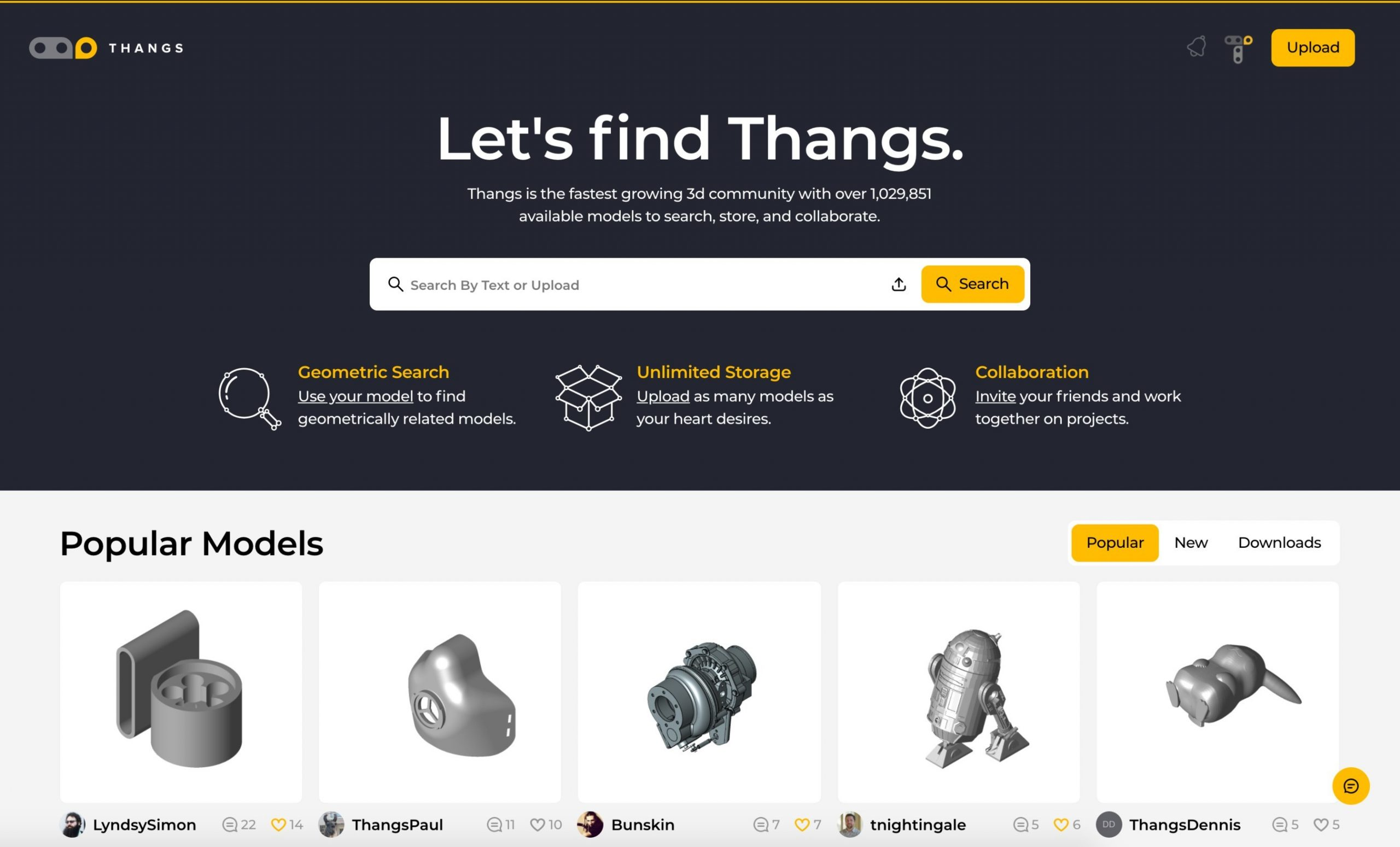 Thangs Grows to 10K Registered Users and 1 Million 3D Model Uploads in Six Weeks